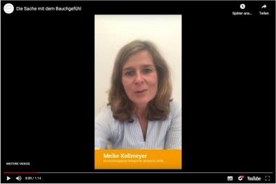 Link zum Video - Die Sache mit dem Bauchgefühl - mit Maike Kollmeyer